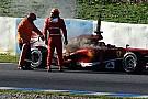Va a fuoco la Ferrari F138 di De la Rosa!