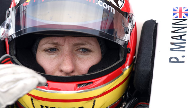 Pippa Mann con Dale Coyne al Texas Speedway