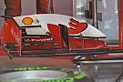 La Ferrari con due vorticatori di flusso sull'ala