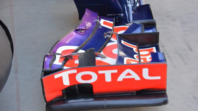 La Red Bull modifica i profili dell'ala davanti