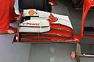 Alonso con un'ala più carica rispetto a Massa