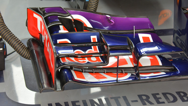 Red Bull: le due paratie ora sono svergolate