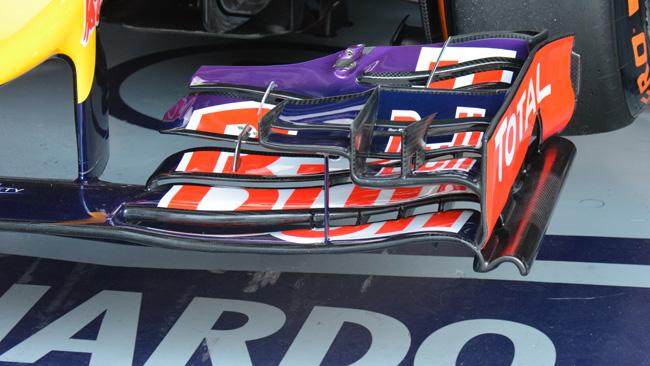 Red Bull: l'ala anteriore adesso ha quattro profili!