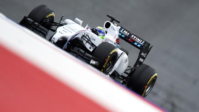 Massa in pole in Austria, prima fila tutta Williams