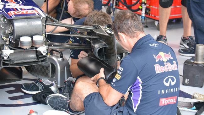 La Red Bull ha sperimentato una nuova presa freni