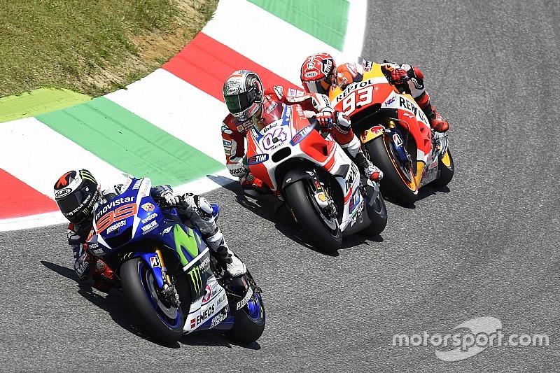 MotoGP riders test Michelin tyres in Mugello