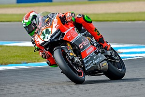World Superbike Practice report Biaggi ends opening day on top as Misano times tumble