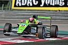 Mueller-Crepon in wheel to wheel action with Schumacher Jr
