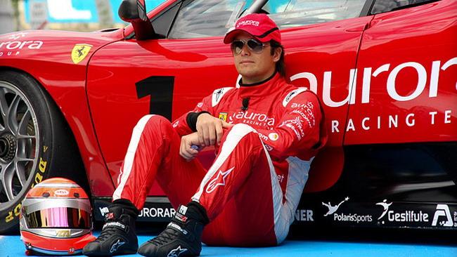 Primo test sulla Ferrari 430 GT2 per Nelsinho Piquet
