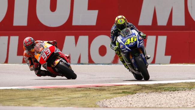 Contatto Assen: Marquez e Rossi restano agli antipodi