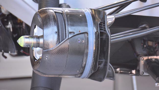 Williams: cestello dei freni anteriore più aperto