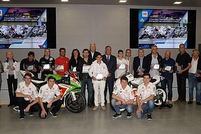 Il Team Italia omaggia il motociclismo romano