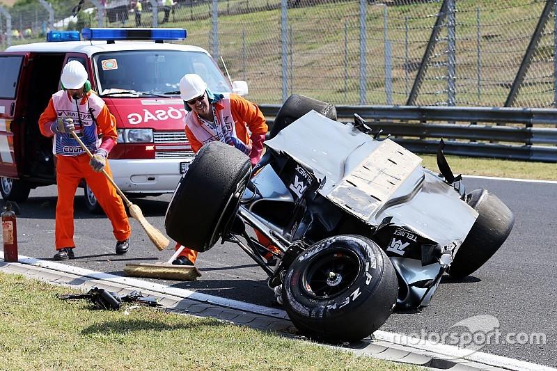 Перес избежал травм в серьезной аварии
