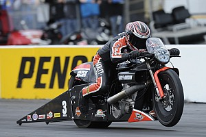 NHRA Qualifying report Krawiec earns Pro Bike battle victory and top qualifying position in Pro Stock Motorcycle
