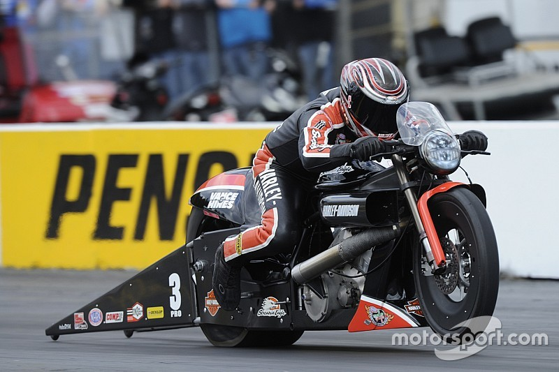 Krawiec earns Pro Bike battle victory and top qualifying position in Pro Stock Motorcycle