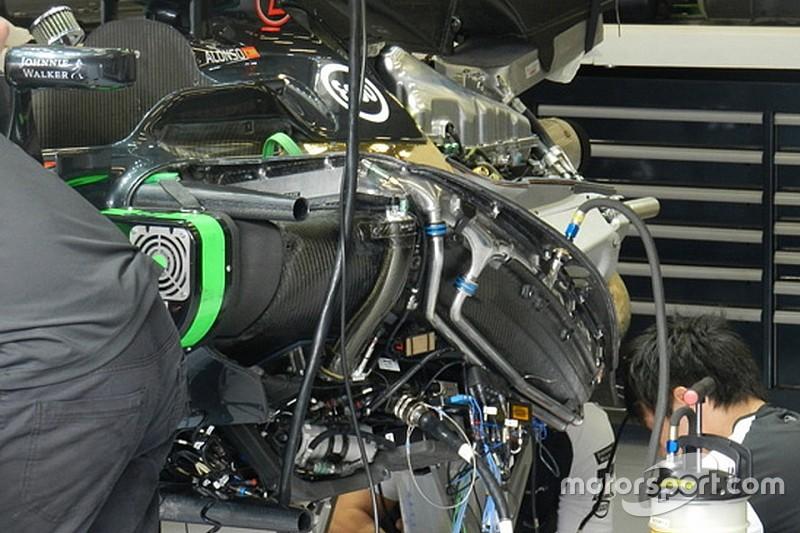 McLaren: spostato il pacco radiante sulla power unit