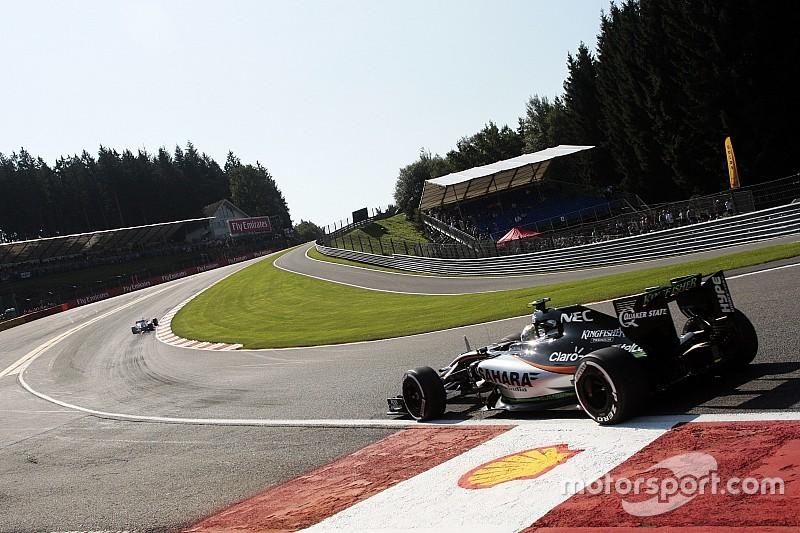 """Scary"" kerb removed from top of Eau Rouge"