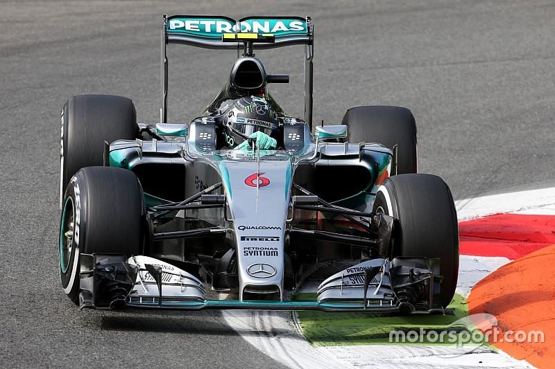 "Rosberg se diz ""surpreso"" com vantagem da Mercedes em Monza"