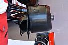 Ferrari: cestelli dei freni asimmetrici nell'anteriore