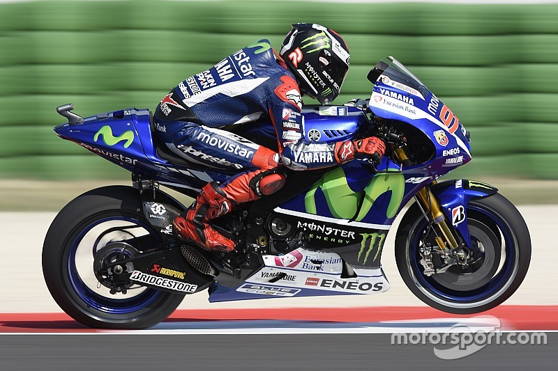 Yamaha delights with double front row in Misano