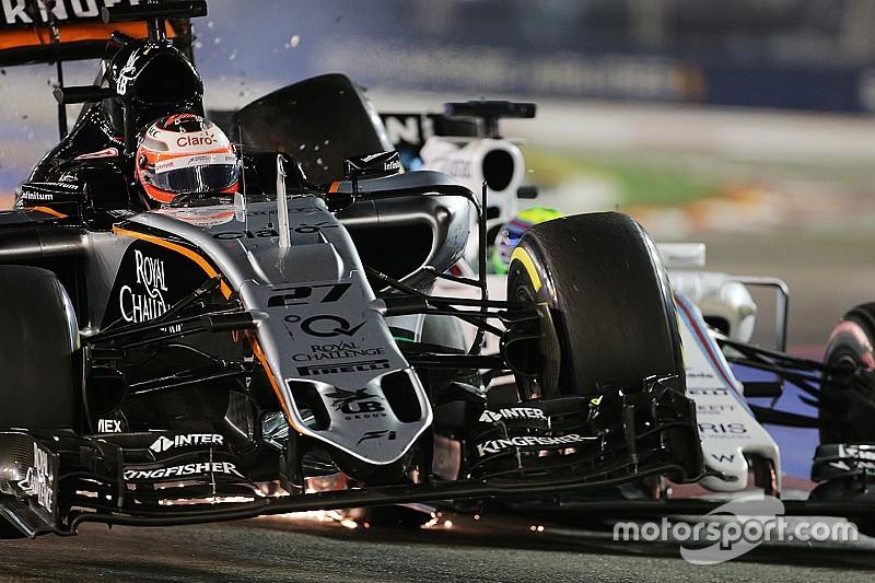 "Hulkenberg, ""frustrado"" por el castigo, culpa a Massa"