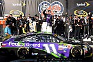Denny Hamlin spins and then wins at Chicagoland