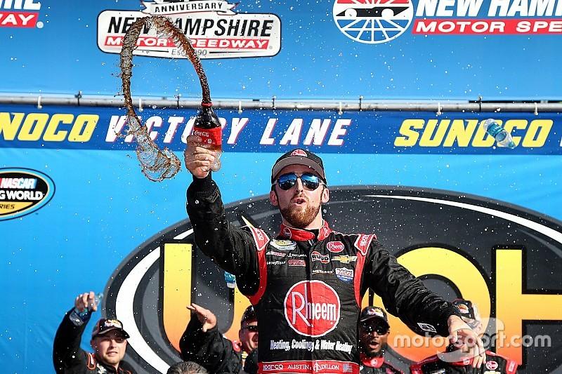 Austin Dillon ganó la carrera de camionetas en New Hampshire