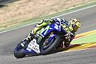 Valentino Rossi stürzt bei Reifentests in Aragon