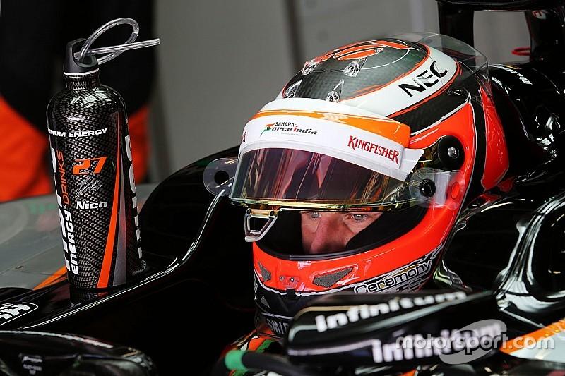 Hulkenberg terminó al frente en una acortada primera sesión