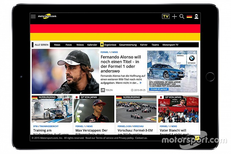 Motorsport.com lança plataforma digital na Alemanha