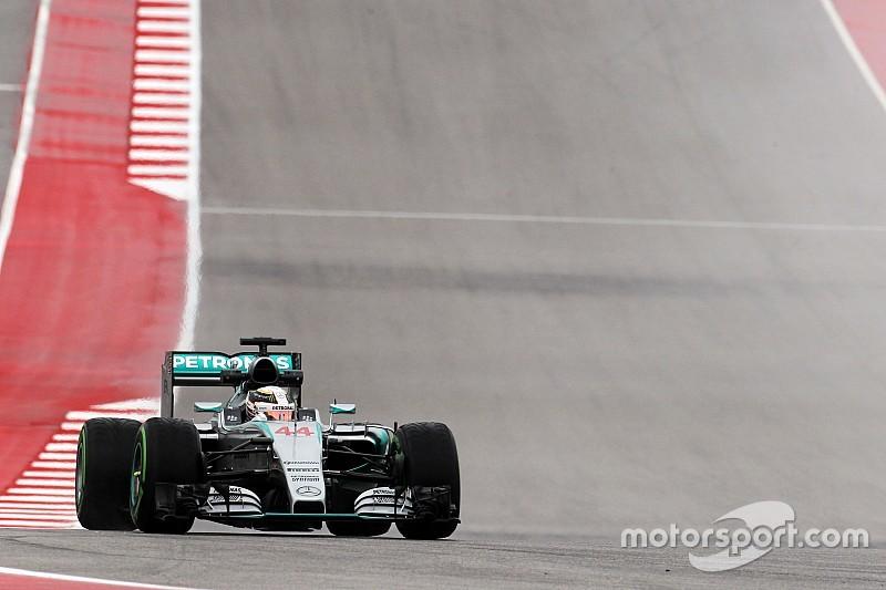 Austin, Libere 3: Hamilton davanti a Vettel nel diluvio