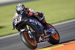 MotoGP Testing report Marquez leads crash-filled first day of Valencia test