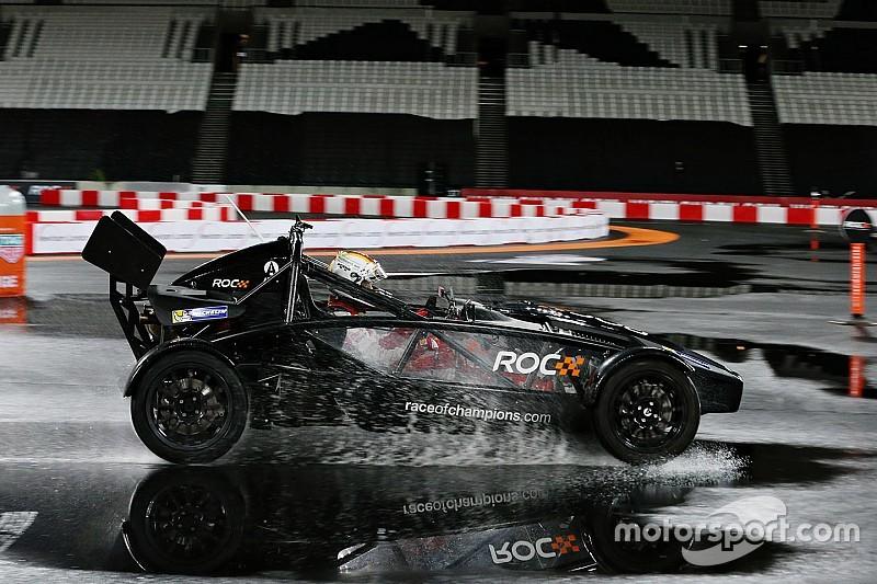 Vettel verslaat Kristensen in Race of Champions
