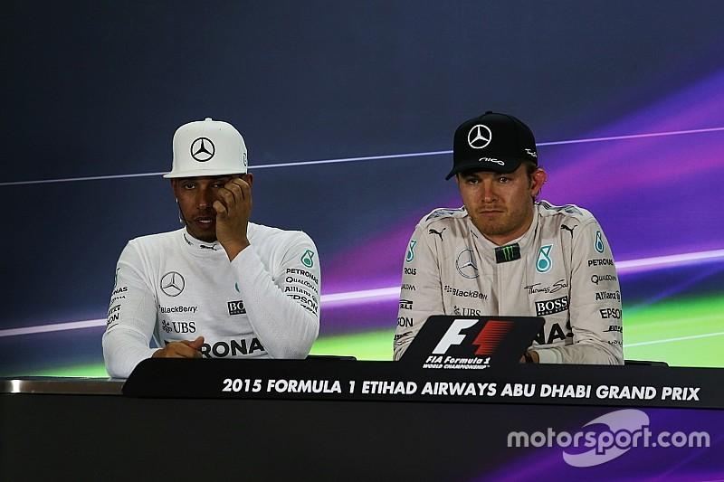 Wolf amenaza con vigilar a Hamilton y a Rosberg