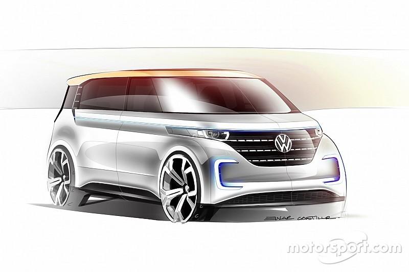 Volkswagen maakt nieuwe microbus elektrisch, introduceert Budd-E