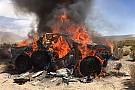 Dakar, la Toyota di Ten Brinke finisce in fiamme!