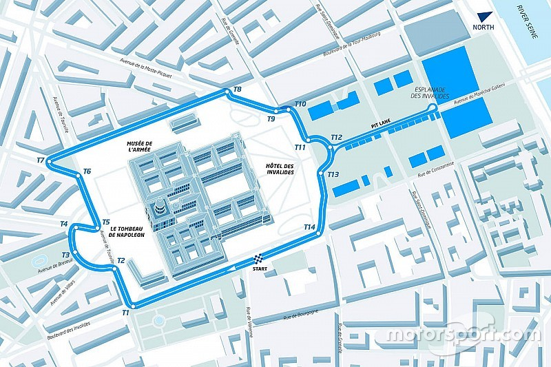 Dit is het Formule E-stratencircuit in Parijs