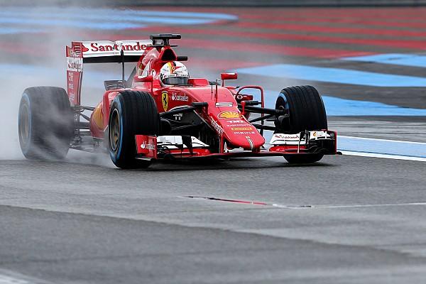 Vettel é o mais rápido em último teste de pneus de chuva