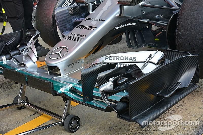 Mercedes испытывает новый носовой обтекатель