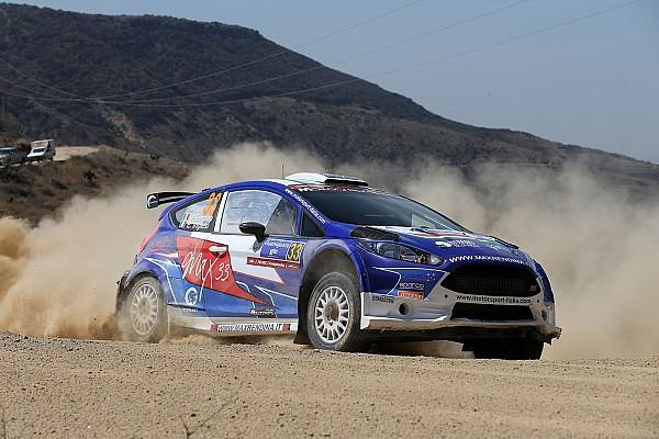 Max Rendina ed Emanuele Inglesi sul podio del WRC2 al Rally del Messico
