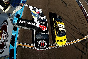 Monster Energy NASCAR Cup Raceverslag Harvick wint na spectaculaire close finish in NASCAR
