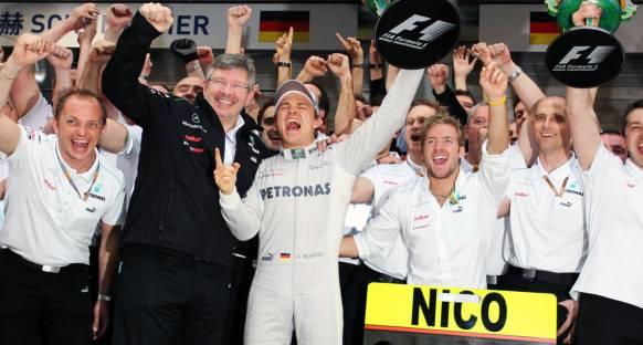 Çin'de zafer Rosberg'in