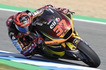Moto2 in Assen FT1: Augusto Fernandez vorn, Tom Lüthi fliegt spektakulär ab
