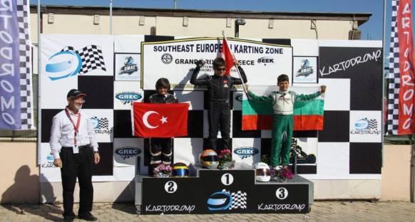 Kartingde Yiğit Çetin Güney Doğu Avrupa Şampiyonu