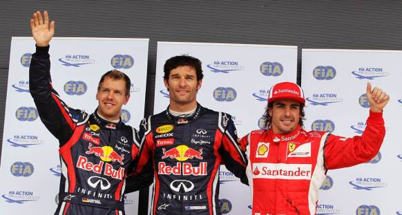 Britanya Grand Prix 2011 sıralama turları - Webber polde