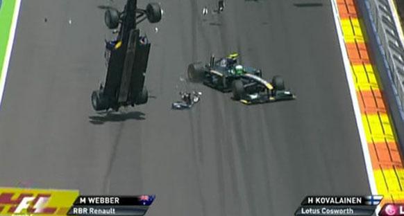 Webber kazadan yara almadan kurtuldu