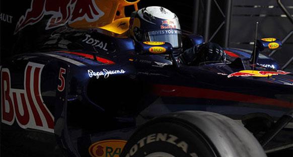 Vettel hasarlı takla barının kurbanı olmuş