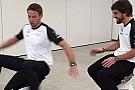 Alonso ve Button stres attı