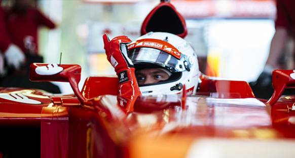 Yeni Ferrari'yi ilk Vettel kullanacak