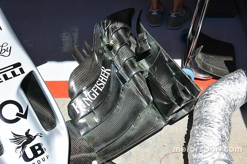 Force India: l'ala anteriore secondo i dettami della Mercedes